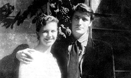 Plath and Ted Hughes on their honeymoon, 1956.