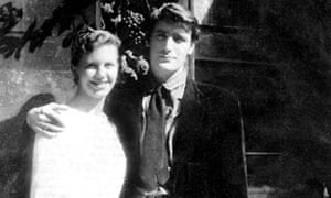Sylvia Plath with Ted Hughes on their honeymoon in Paris, 1956. Photograph: Alamy