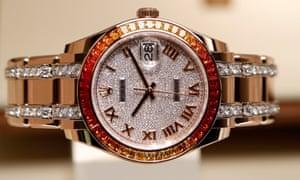 A Datejust watch of Swiss manufacturer Rolex.
