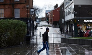 Part of Middleton, Greater Manchester, a town where life expectancy rates are low