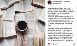 A book selfie from Sara Tasker's Instagram profile.