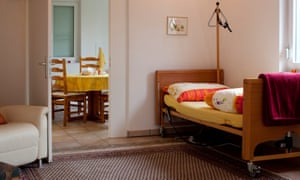 A room in the Dignitas clinic in Zurich, Switzerland.