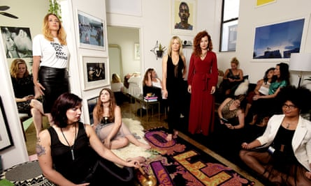 Ruby Warrington and Alexandra Roxo co-founders of The Numinous with members of the company's Moon Club in New York.