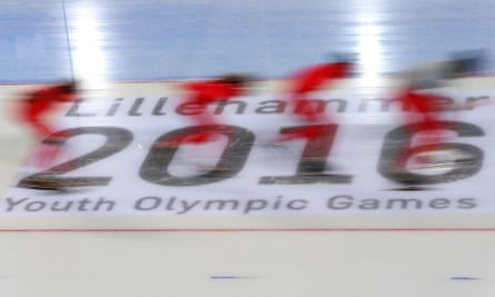 A speed skating team at the Winter Youth Olympic Games in Lillehammer in 2016. The 1994 Games are credited with inspiring Norway's athletes.