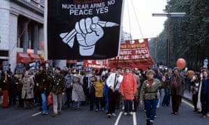 An anti-nuclear march in London in 1981.