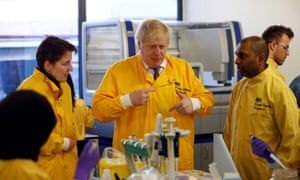 Johnson's visit came as the number of confirmed coronavirus cases in the UK leapt to 35 after 12 new patients were identified in England