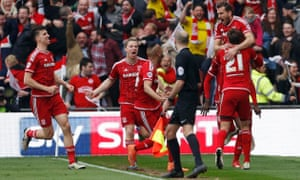 Cristhian Stuani and Middlesbrough celebrate after his opening goal.
