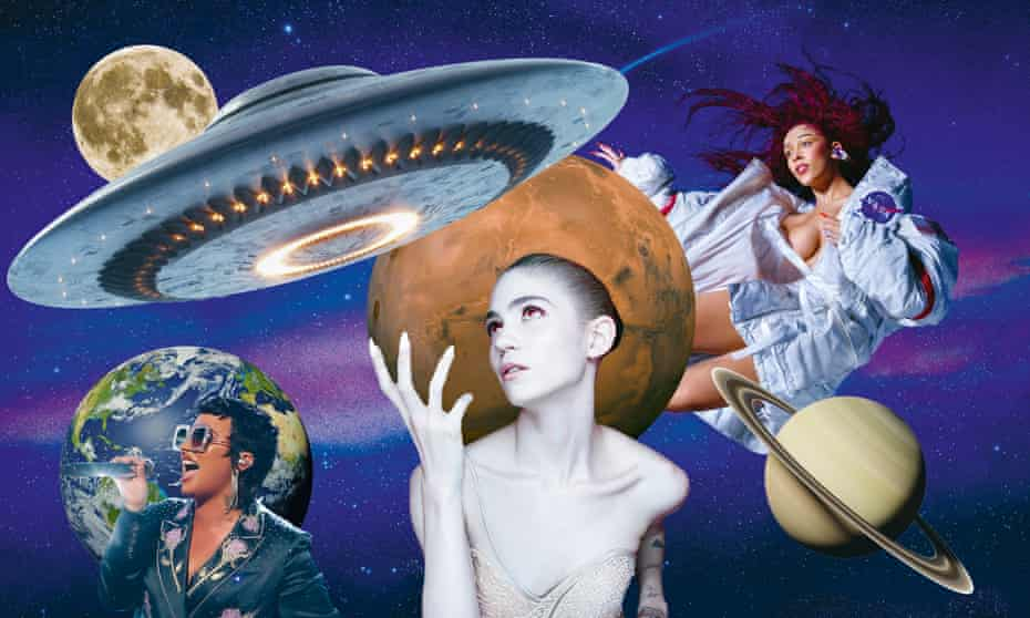 Space oddities ... (l-r) Demi Lovato, Grimes, Doja Cat.
