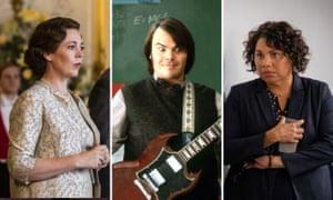 Olivia Colman in The Crown, Jack Black in School of Rock and Deborah Mailman in Total Control