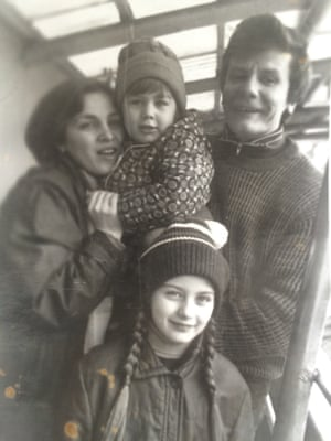 Genia with her parents and older sister in 1987. She was only a year old when her father went to Pripyat as a first responder.