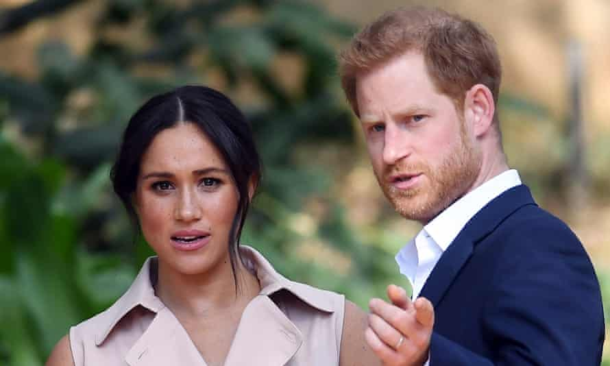 Meghan, Duchess of Sussex pictured with Prince Harry in 2019.