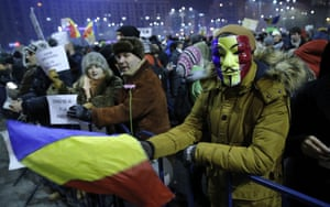 Romanians protest against pardon ordinance adopted by the government in Bucharest.