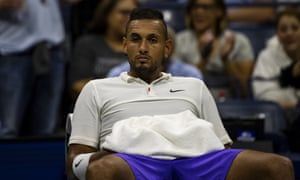 Nick Kyrgios during a match at the US Open