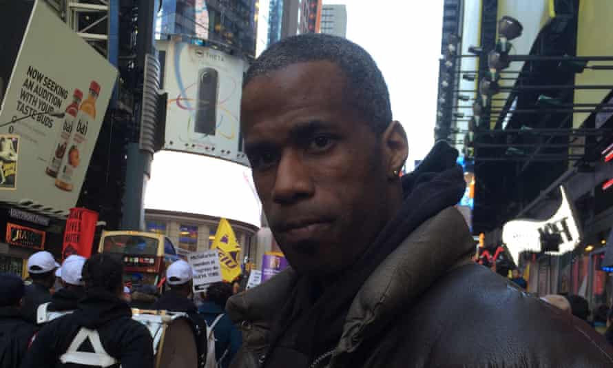 Jumal Tarver, who protested the Republican gala, believed the Republicans wanted to keep pay for low-wage workers depressed.