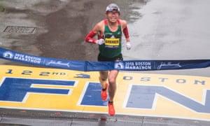 Yuki Kawauchi wins the 2018 Boston Marathon in 2hr 15min 58sec.