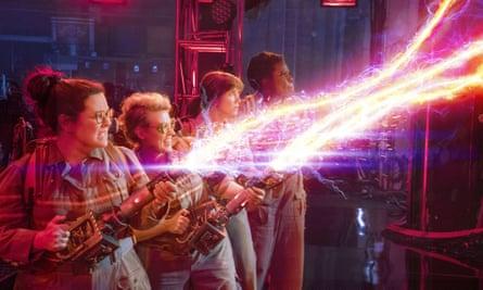 Ghostbusters, with Melissa McCarthy, Kate Mckinnon, Kristen Wiig and Leslie Jones.
