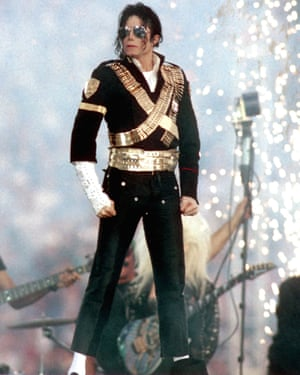 You know it's fashion gold when Beyoncé's biting your style – Michael Jackson wore this suit with gold harness-style belt to play the Rose Bowl in Pasadena in 1993, Queen Bey wore a reimagined version, created by Dsquared2 designers Dean and Dan Caten, to play the same Super Bowl stage in 2016 in a political performance of Formation. MJ-esque metallics were massive this season, from Rick Owens to Saint Laurent to Balmain.