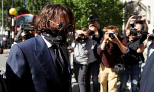 Actor Johnny Depp arrives at the High Court in London, Britain.