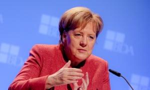 Angela Merkel set out the position of the EU27.