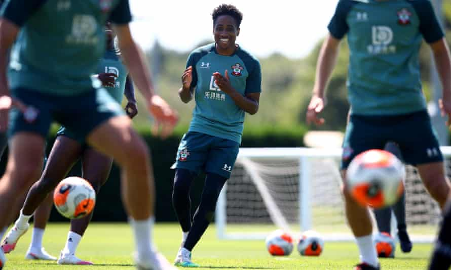 Kyle Walker-Peters at a Southampton training session