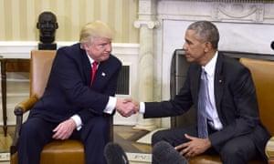 Donald Trump meets Barack Obama