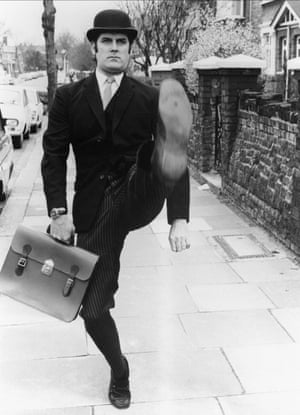 The minister for silly walks … Cleese in Monty Python's Flying Circus.