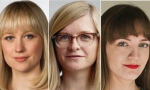 Words By Women winners: Sophy Ridge, Helen Pidd and Rossalyn Warren.