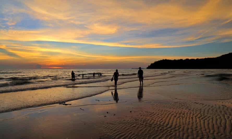 Ko Kood beach at sunset, Thailand.