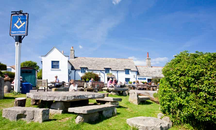 Square and Compass pub in the Dorset village of Worth Matravers, England