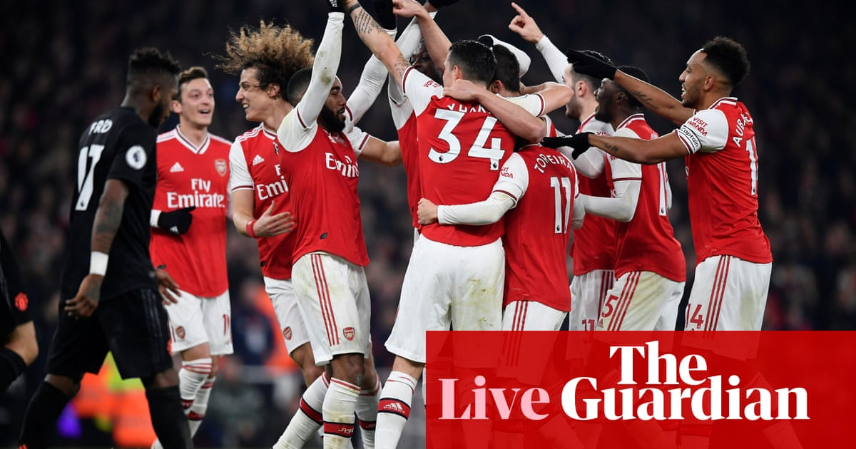 Arsenal 2 0 Manchester United Premier League As It Happened Football The Guardian