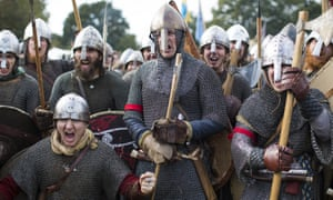 A re-enactment of the battle of Hastings