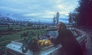 Bill Mollison on a plant and seed collection expedition in northern Tasmania
