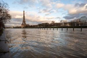 Paris, FranceThe flooded banks of the Seine river