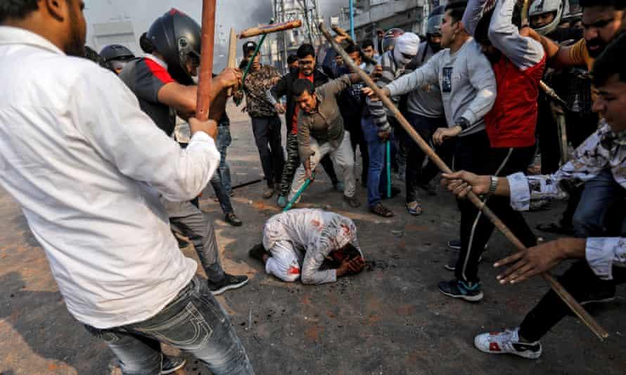 February 24, 2020: Men beat 37-year-old Muhammad Zubair by a Muslim.