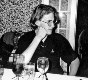 Dylan Klebold at a restaurant with his family, about three weeks before the shooting