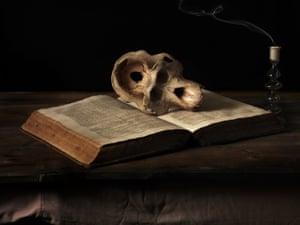 orangutan skull and bible