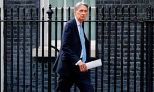 Britain's chancellor Philip Hammond
