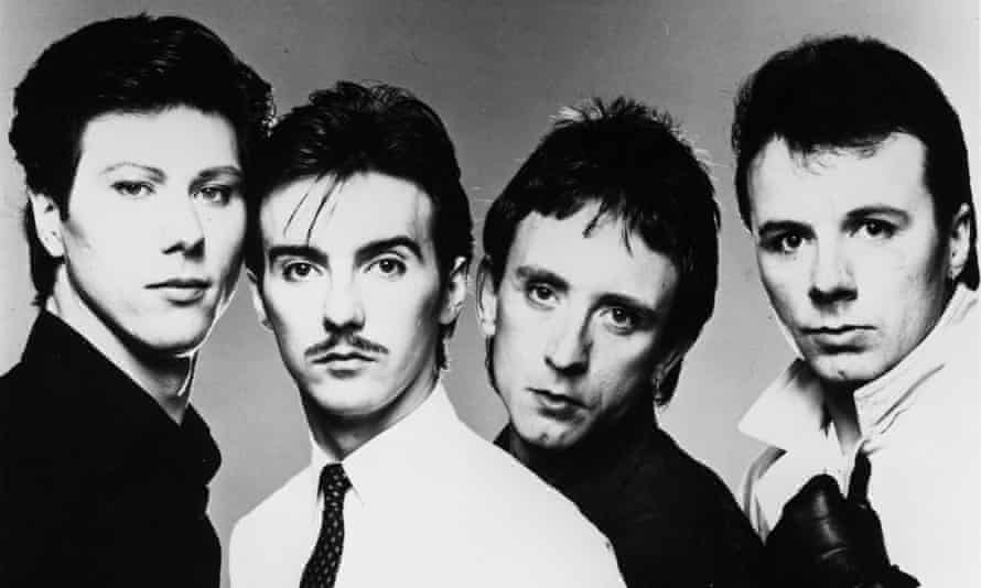 From left ... Warren Cann, Midge Ure, Chris Cross and Billy Currie of the pop group Ultravox.