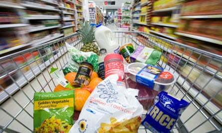 Food in Tesco's trolley