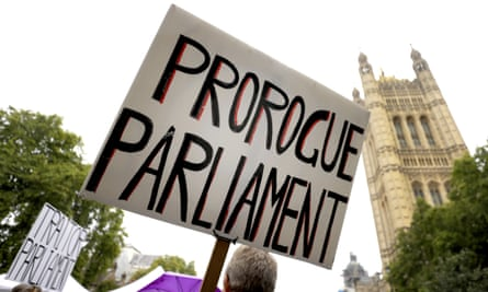 Pro-Brexit protesters outside the Houses of Parliament