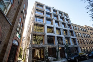 In-keeping … round-and-tumble flats at 15 Clerkenwell Close, by architect Amin Taha.