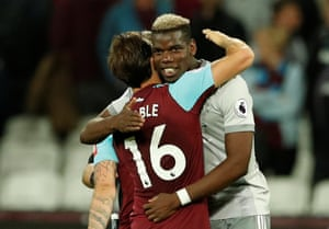 Pogba and Noble make up.