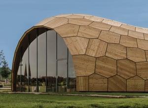 Landesgarten Exhibition Hall, Schwäbisch Gmünd, Germany, ICD/ITKE/IIGS University of Stuttgart, 2014.