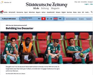 Suddeutsche Zeitung website
