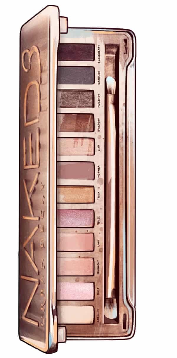 Discontinued ... Urban Decay's Naked smokey eye palette. Illustration: Cristina Polop