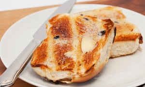 Hot cross buns … the only necessary addition is butter.