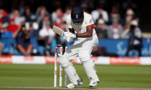 England's Jofra Archer tries to take evasive action