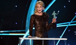 Nicole Kidman winning her SAG award.