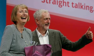 Harriet Harman with Jeremy Corbyn at the Labour party conference in 2015.
