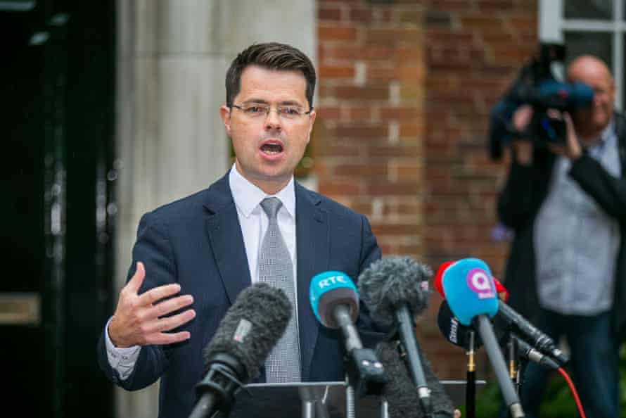 James Brokenshire at press conference in Belfast